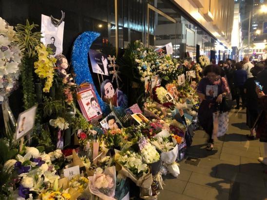 2019년 4월1일 홍콩 만다린 호텔에 차려진 장국영 추모 현장.