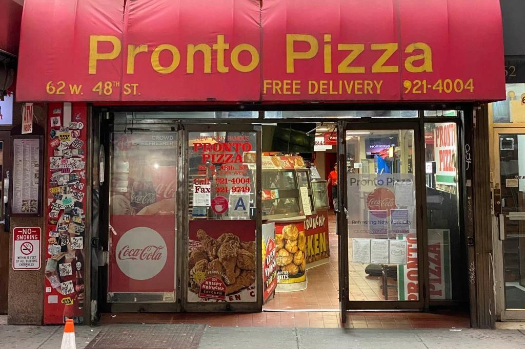 뉴욕 맨해튼의 피자점