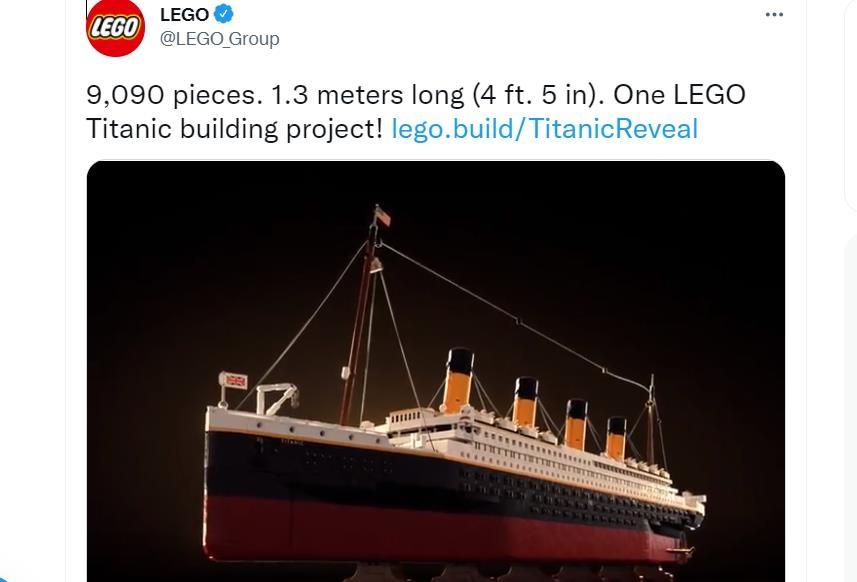 레고가 11월부터 판매하는 '타이태닉'