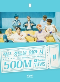 'Boy With Luv' de BTS alcanza los 500 millones de visualizaciones en YouTube