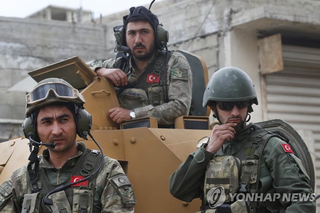 작년 3월 시리아 북서부 '쿠르드 도시' 아프린 장악한 터키군