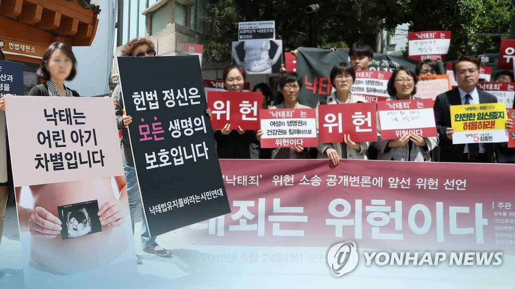 Abortion rate in S. Korea sharply down: poll - 1
