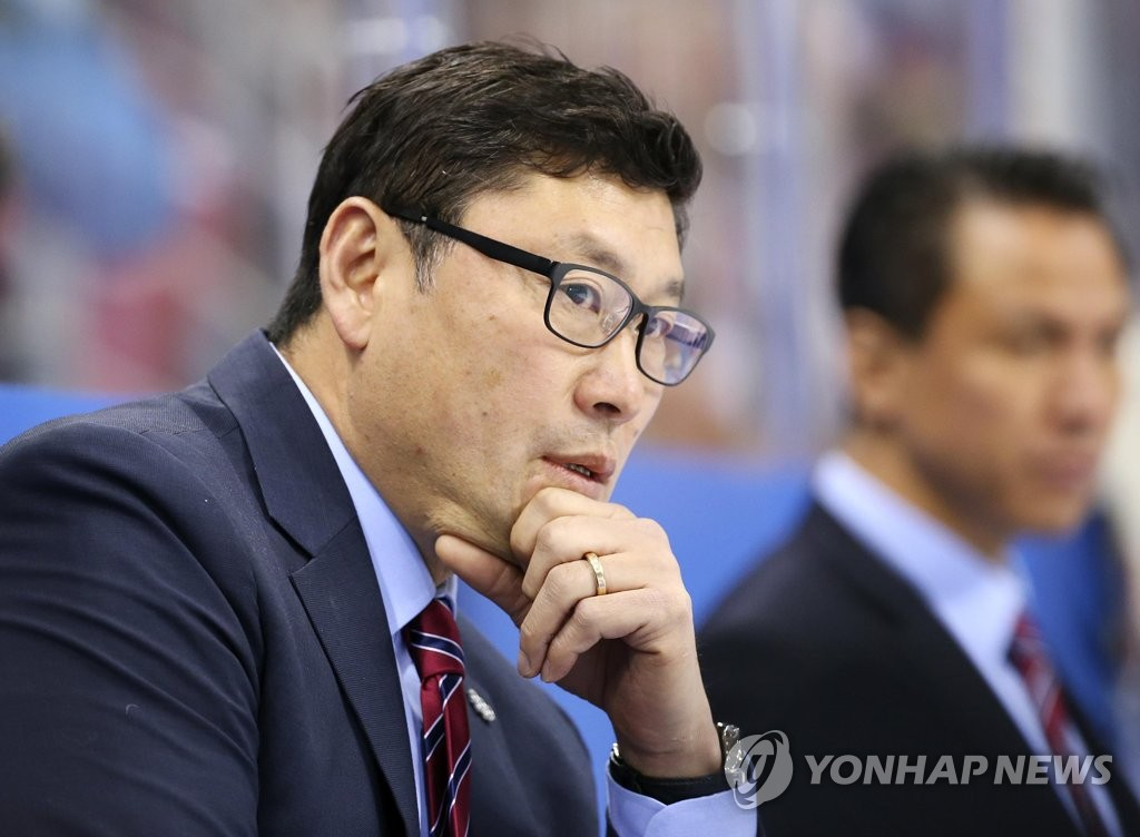This file photo provided by the Korea Ice Hockey Association on June 16, 2018, shows Jim Paek, head coach of the men's national team. (Yonhap)