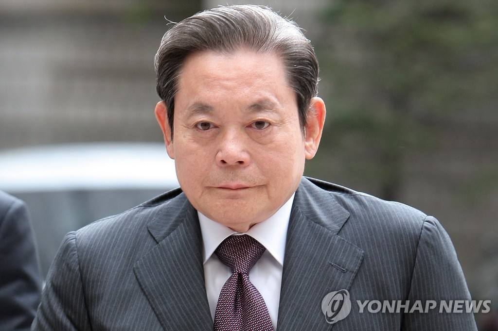 This file photo shows the late Samsung chief Lee Kun-hee. (Yonha).