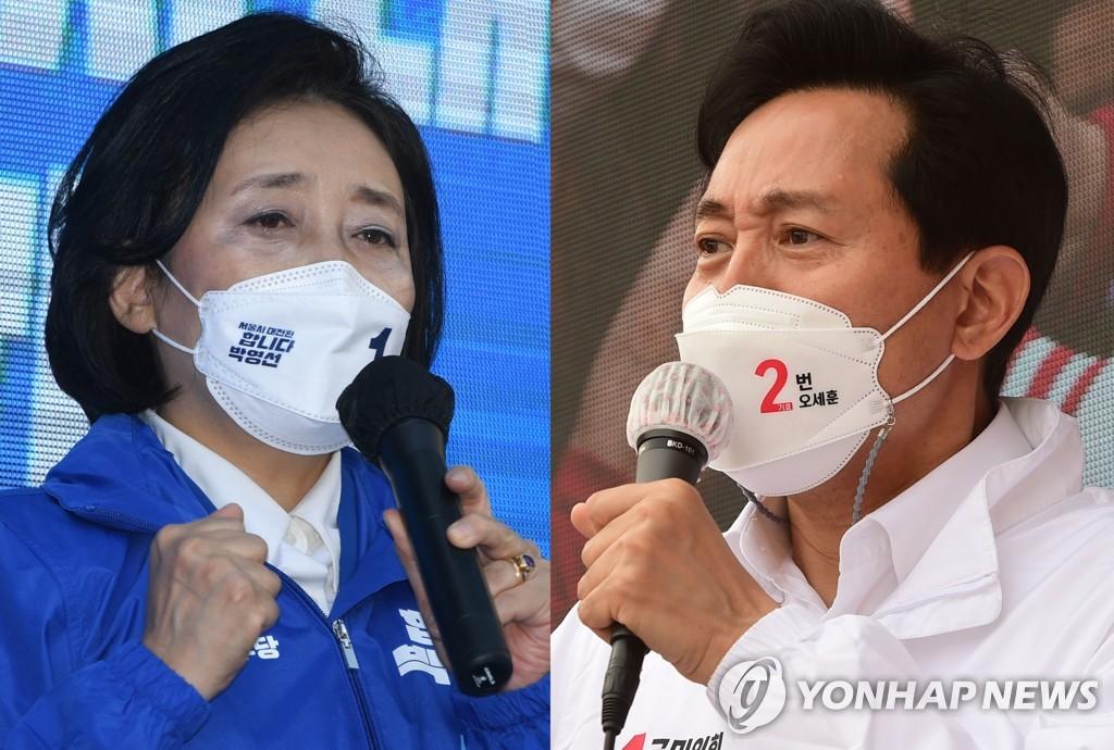 (왼쪽부터) 박영선 - 오세훈