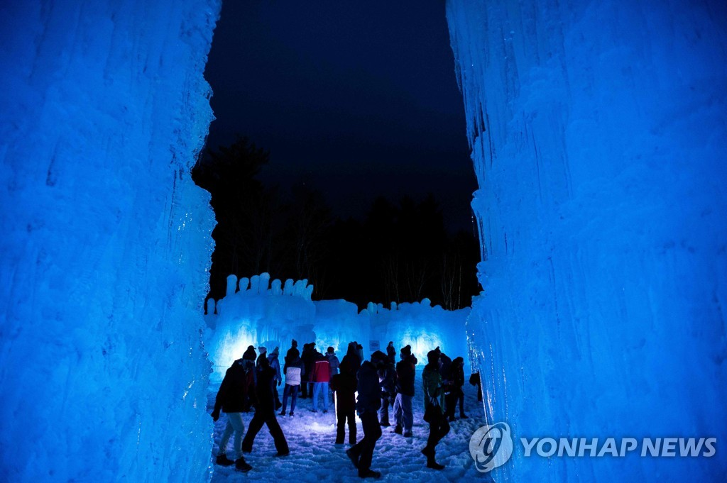 US-SNOW-WEATHER-LEISURE-ICE CASTLES