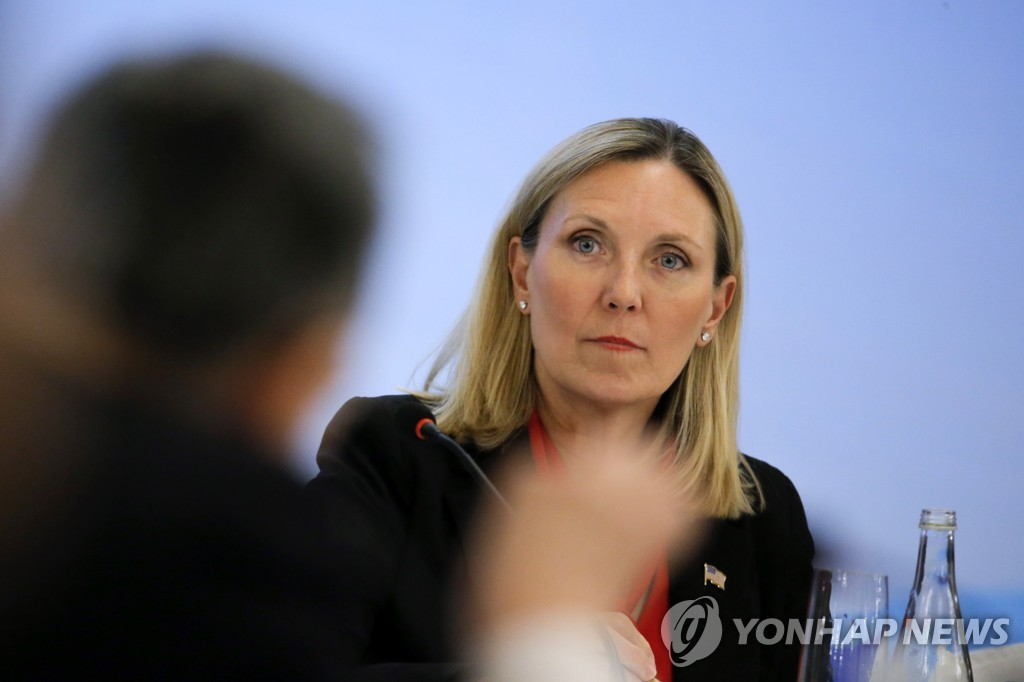 This EPA file photo shows U.S. Under Secretary of State for Arms Control and International Security Andrea Thompson. (Yonhap)