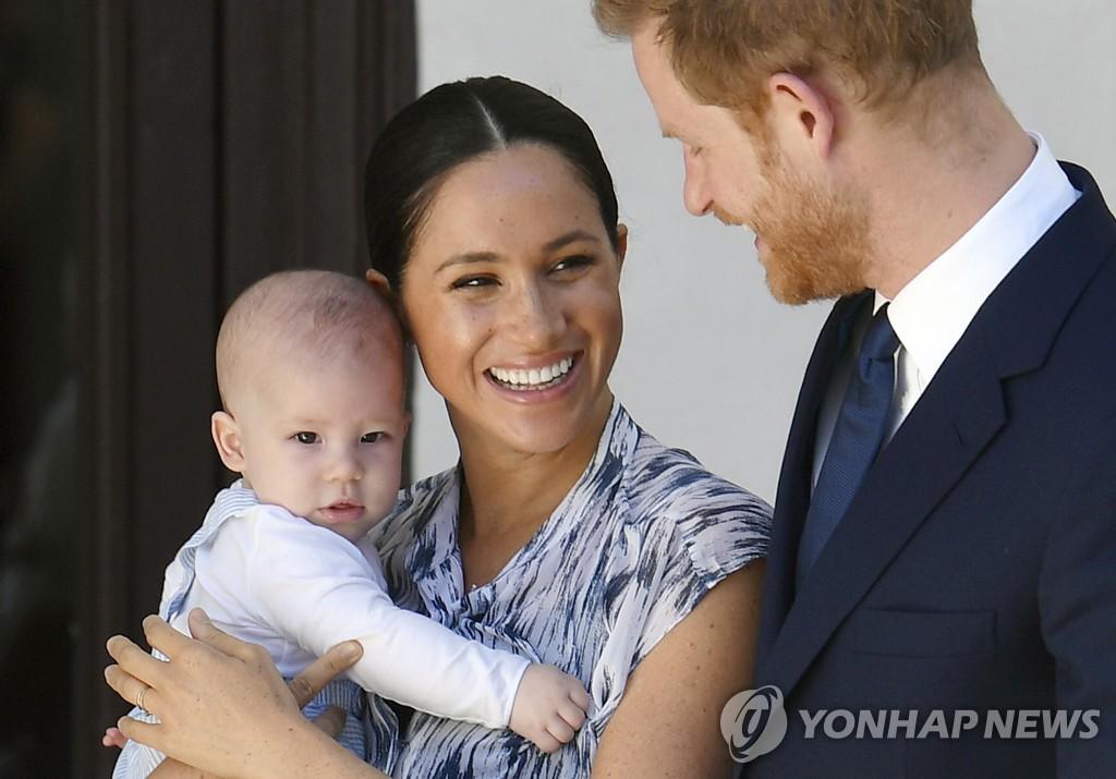 해리 왕자 부부와 아들 아치