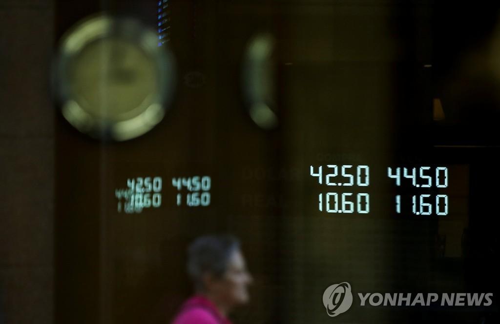 아르헨 페소 가치 추락…대선 불확실성·경제침체 우려 증폭 | 연합뉴스