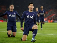 Tottenham's Son Heung-min scores for 2nd straight match