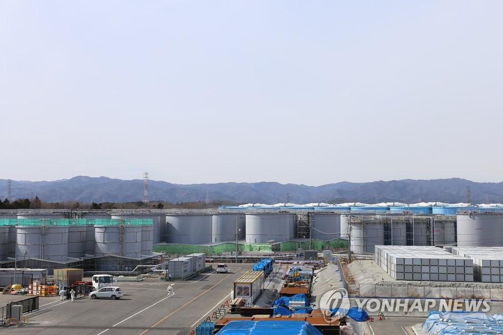 후쿠시마 원전 내부 오염수를 담은 탱크