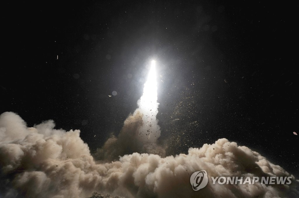 Seen here is South Korea's Hyunmoo-2 ballistic missile. (Yonhap)