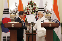 S. Korean president calls for increased cooperation with India