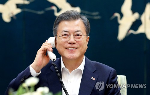 (US-NK summit) S. Korea ready to resume inter-Korean cooperation to help denuclearization: Moon
