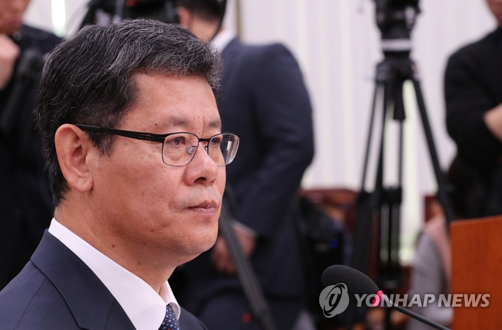 Unification Minister nominee Kim Yeon-chul listens to a question during his confirmation hearing at the National Assembly in Seoul on March 26, 2019. (Yonhap)