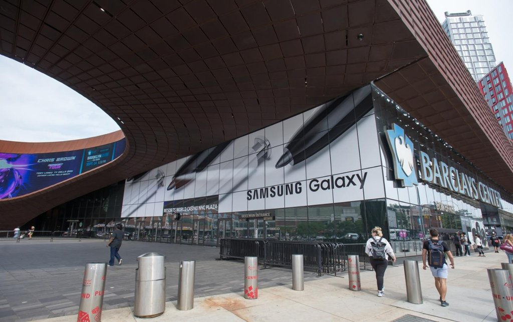 Samsung Electronics Co. unveils the Galaxy Note 10 during an Unpacked event held at Barclays Center in New York City on Aug. 7, 2019 (local time). (PHOTO NOT FOR SALE) (Yonhap)