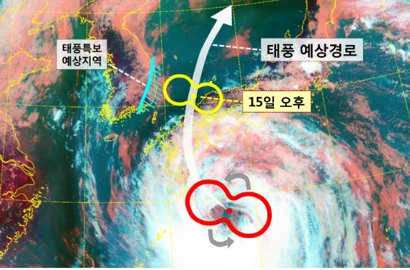 Expected course of Typhoon Krosa