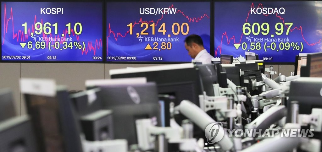 Foreigners turn to selling S. Korean stocks in Aug. - 1
