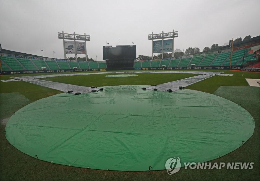 프로야구 대전 더블헤더·사직·수원 경기 우천 취소(종합3보) | 연합뉴스