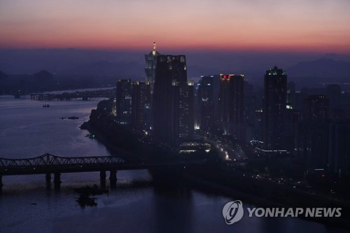 Sunset in Pyongyang