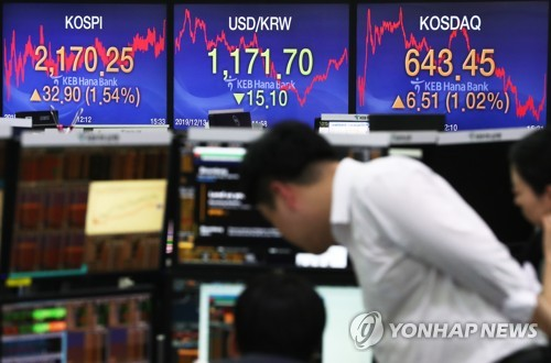 Seoul stocks hit 7-month high on trade optimism, Korean won sharply up