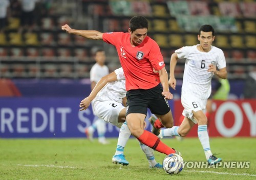 (LEAD) S. Korea beat Uzbekistan to win group at Olympic football qualifying tournament