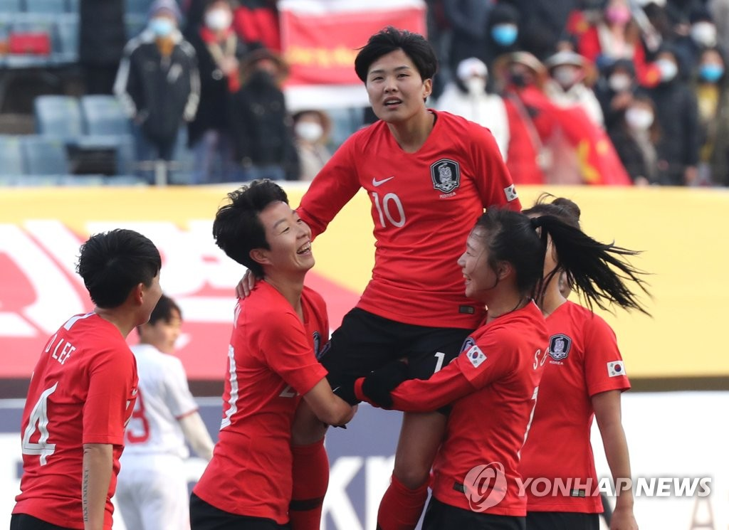 S. Korea advances to playoff in Olympic women's football qualifying