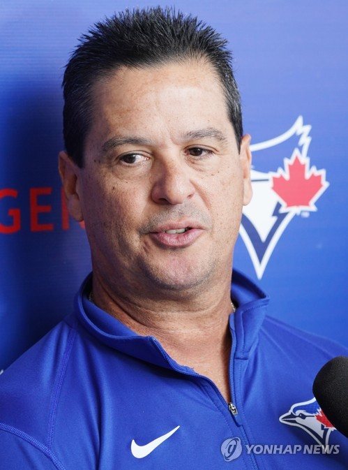 Blue Jays' manager at spring training