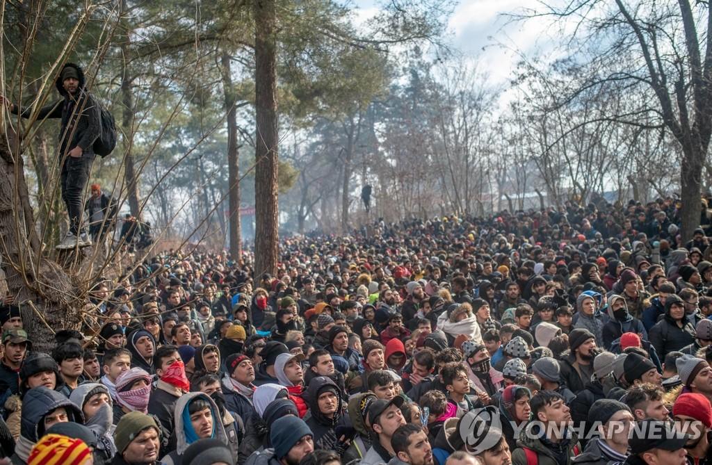 터키ㆍ그리스 국경선에 몰려든 이주자들
