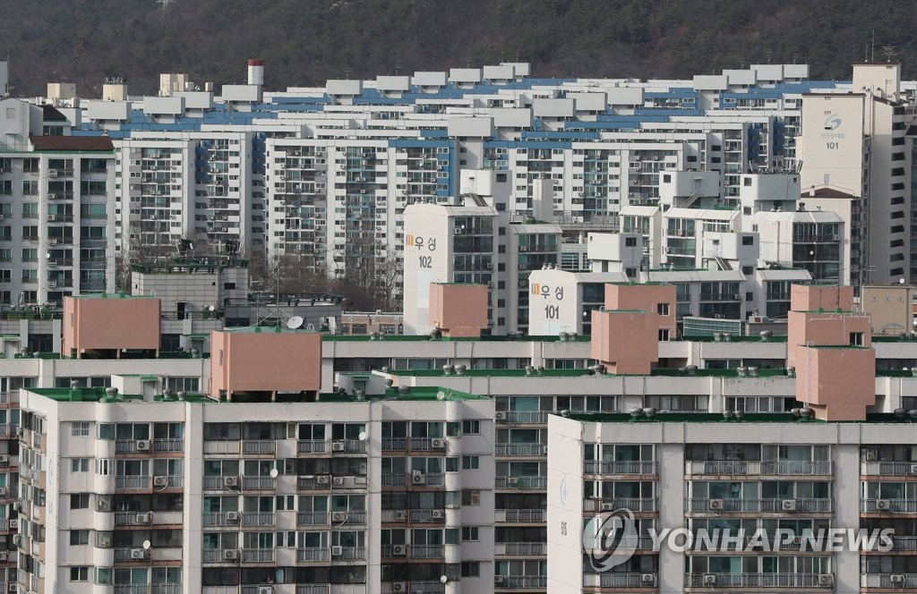 Des appartements dans l'arrondissement de Nowon à Séoul. (Photo d'archives Yonhap)