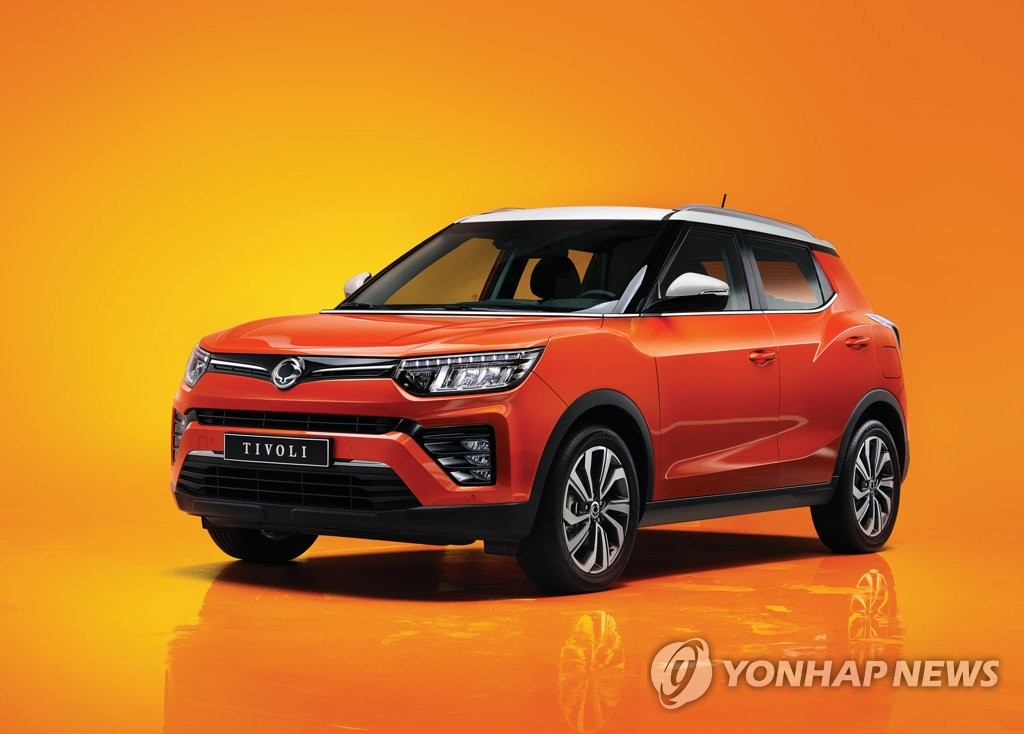 This photo, taken May 4, 2020, and provided by SsangYong Motor, shows the Tivoli SUV. (PHOTO NOT FOR SALE) (Yonhap)