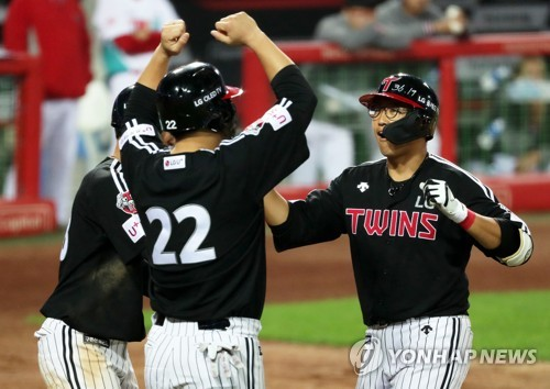 LG Twins' Chae hits three-run homer