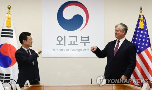 Biegun meets senior Seoul officials over stalled N.K. nuke diplomacy