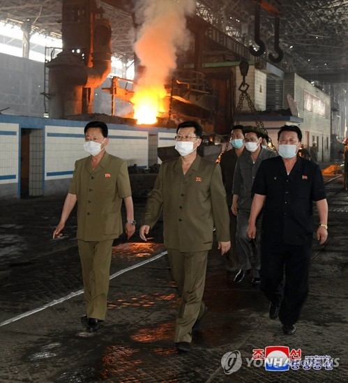 N. Korean premier inspects steel complex