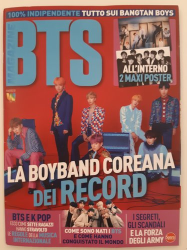 Bimonthly magazine on K-pop band BTS launched in Italy