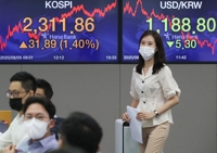 (LEAD) Seoul stocks hit almost 2-year high on U.S. stimulus hopes