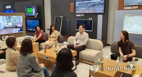 Samsung heir's on-site visit