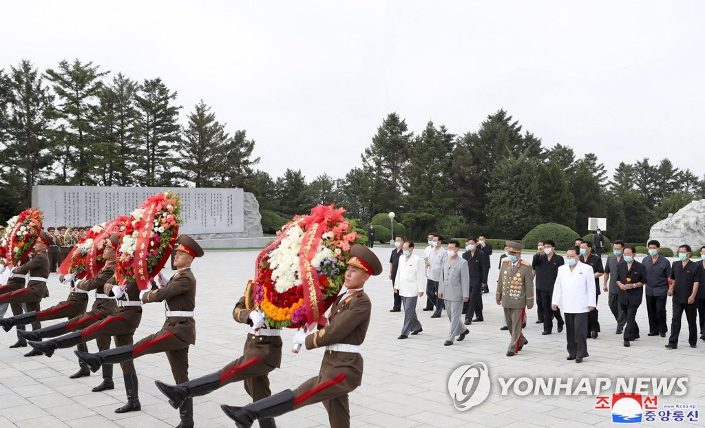 Wreath laying at martyr's cemetery