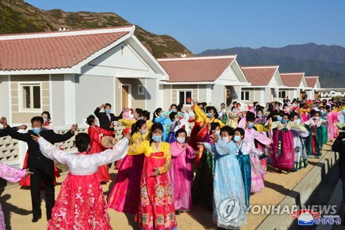 Restored village in N. Korea