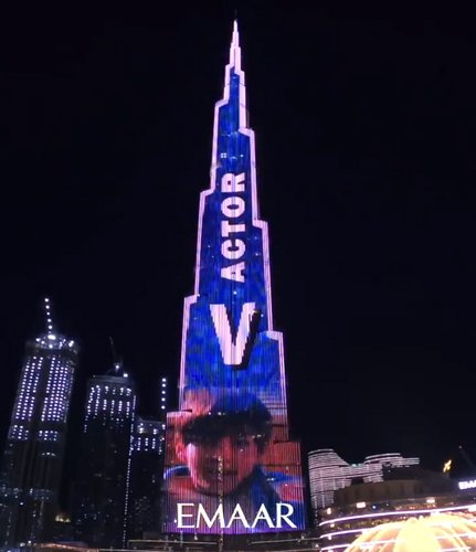 BTS's V on Burj Khalifa