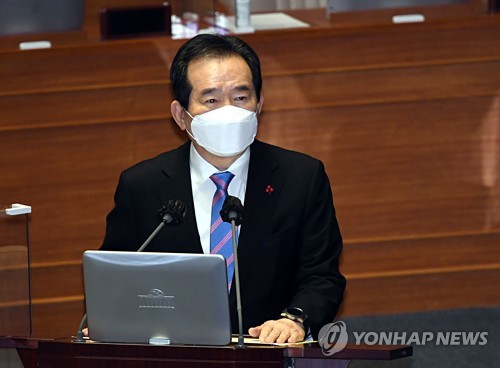 (LEAD) S. Korea seemingly past peak phase of third virus wave: PM