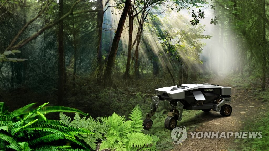 This photo, provided by the Hyundai-Kia Automotive Group, shows TIGER, an unmanned transforming intelligent ground excursion mobility vehicle, which the South Korean carmaker unveiled on Feb. 10, 2021. (PHOTO NOT FOR SALE) (Yonhap)
