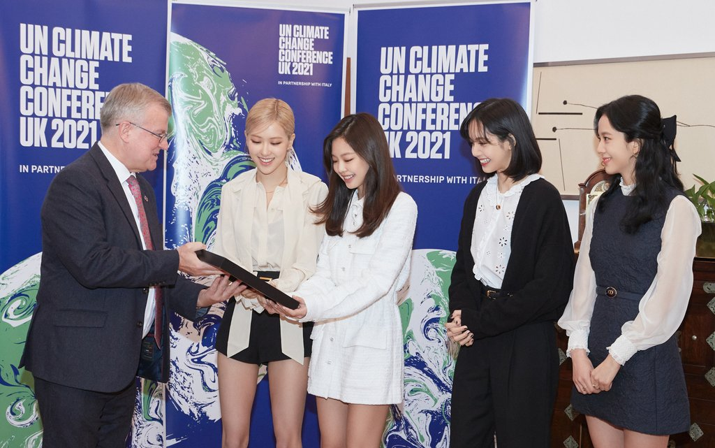 유엔기후변화협약 당사국총회 홍보대사 위촉된 블랙핑크
