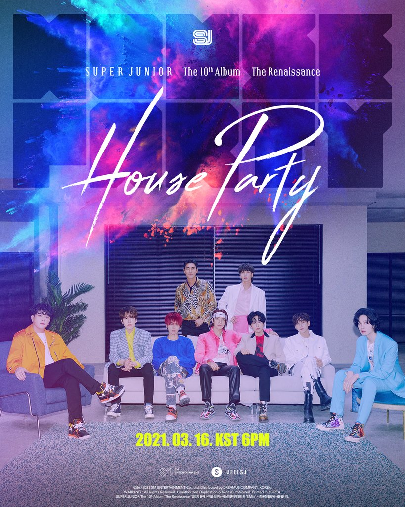 This image, provided by Label SJ, shows the poster for K-pop boy band Super Junior's 10th studio album released on March 16, 2021. (PHOTO NOT FOR SALE) (Yonhap)