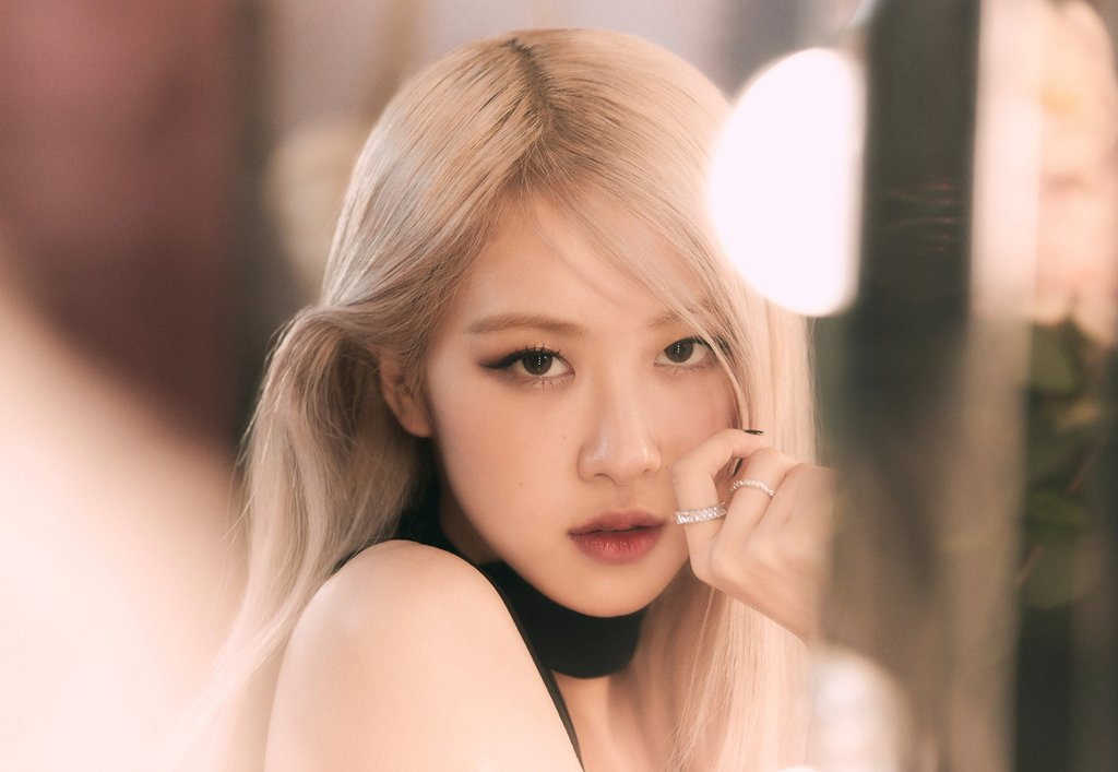 This photo, provided by YG Entertainment, shows Rose of K-pop girl group BLACKPINK. (PHOTO NOT FOR SALE) (Yonhap)