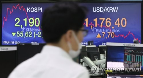 Seoul stocks open sharply lower amid Wuhan coronavirus woes
